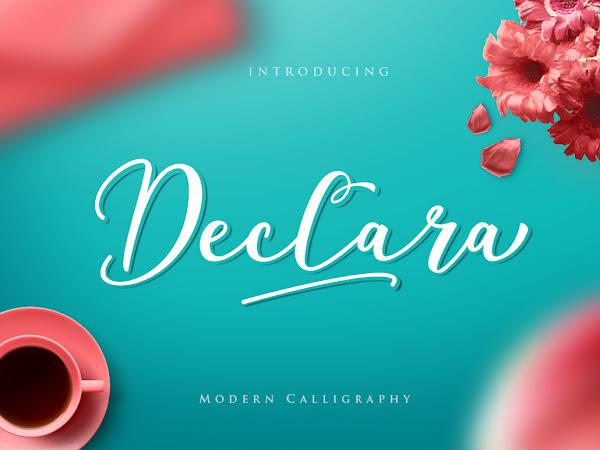 Download Declara Script Font Free