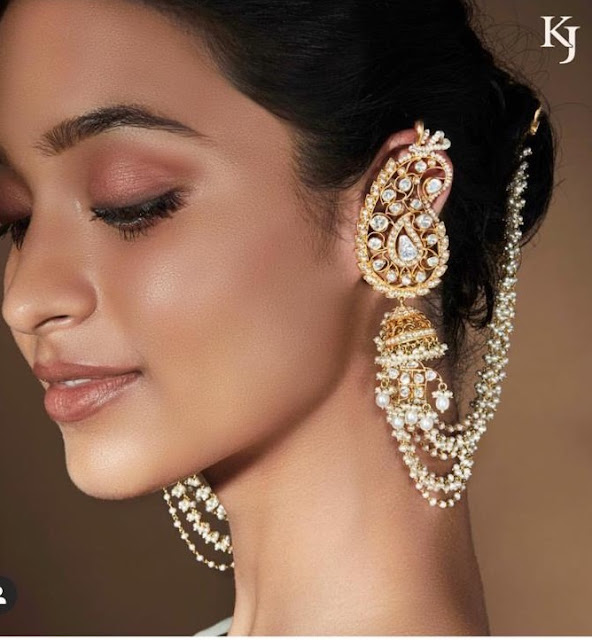 Long Earcuff Jhumkas from Khanna Jewellers