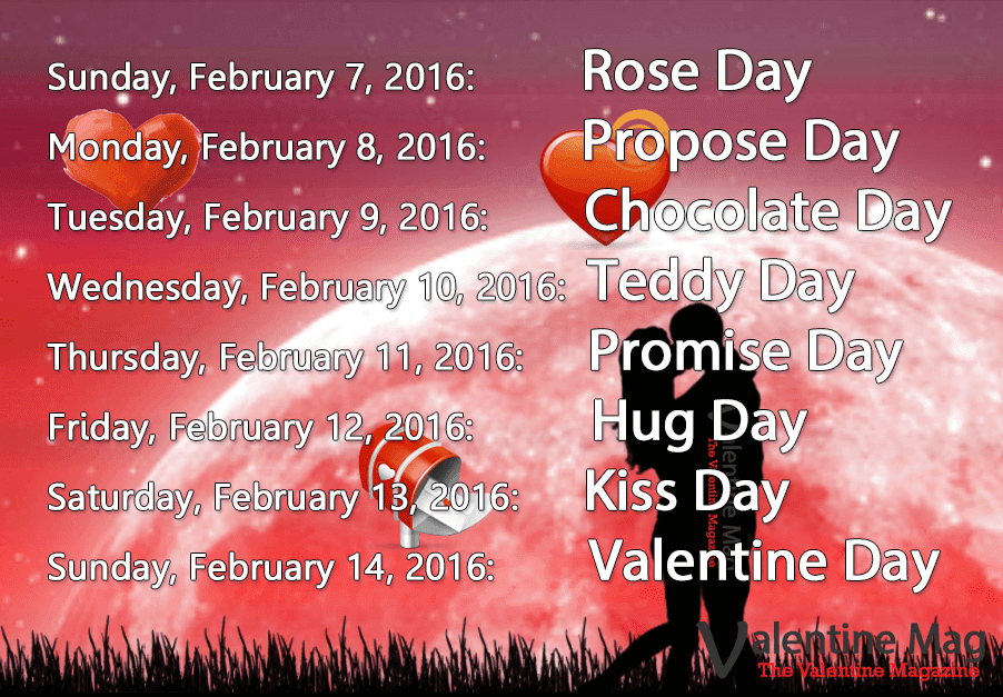 Valentine Week List Of 2016 - Complete Date Sheet