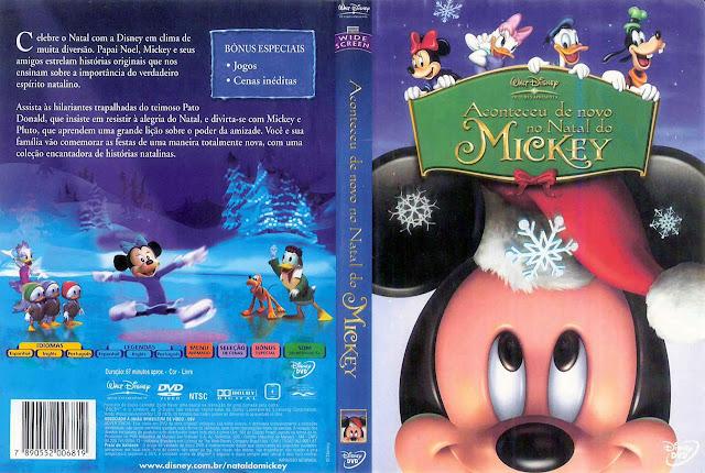 Capa DVD Aconteceu de novo no Natal do MICKEY