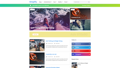 New Simplify 2 Blogger Templates Free Download 2020