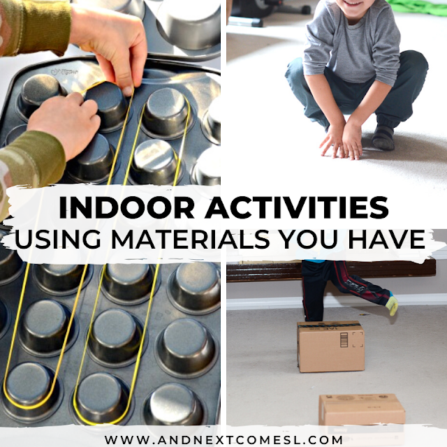 Easy indoor activities for kids using materials you already have on hand