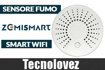 Sensore Fumo Smart Wifi Tuya Zemismart - Compatibile con Amazon Alexa/Google Assistat/IFTTT