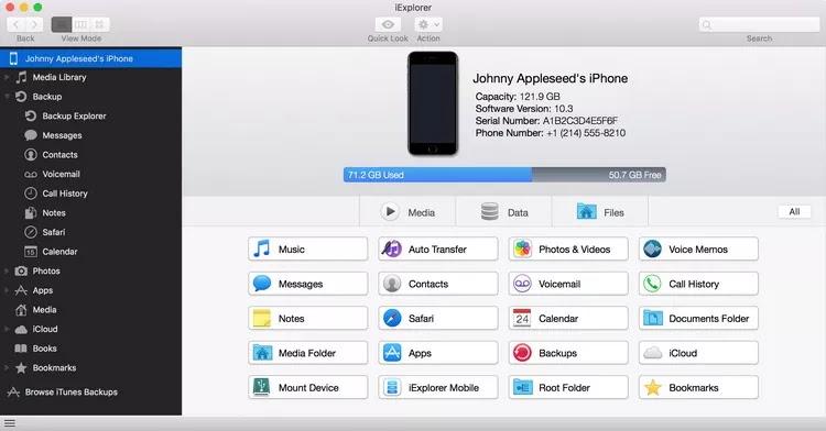 تحميل برنامج Macroplant iExplorer 4.4.1.26629 لإدارة ملفات iOS