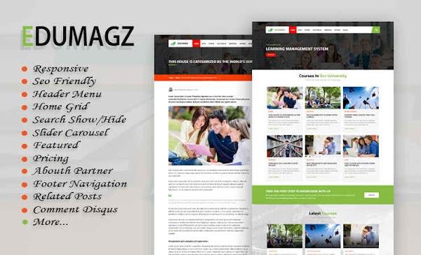 Edumagz Responsive Blogger Template