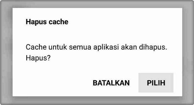Hapus Cache Xiaomi HP