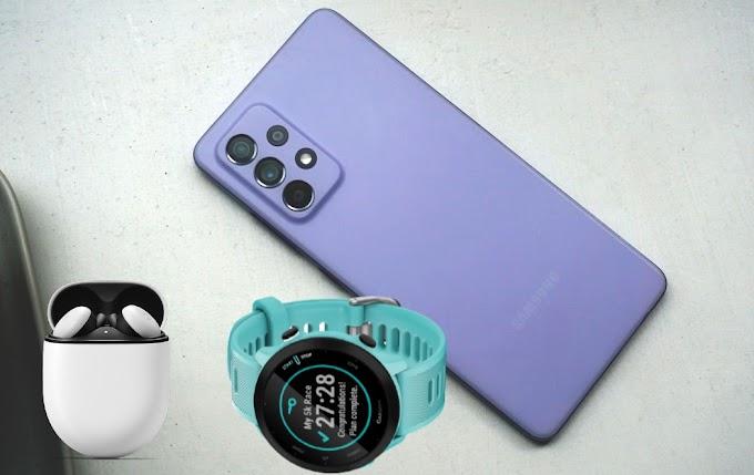 Sorteio de um Galaxy A52 5G, Garmin Forerunner 55 e Pixel Buds A