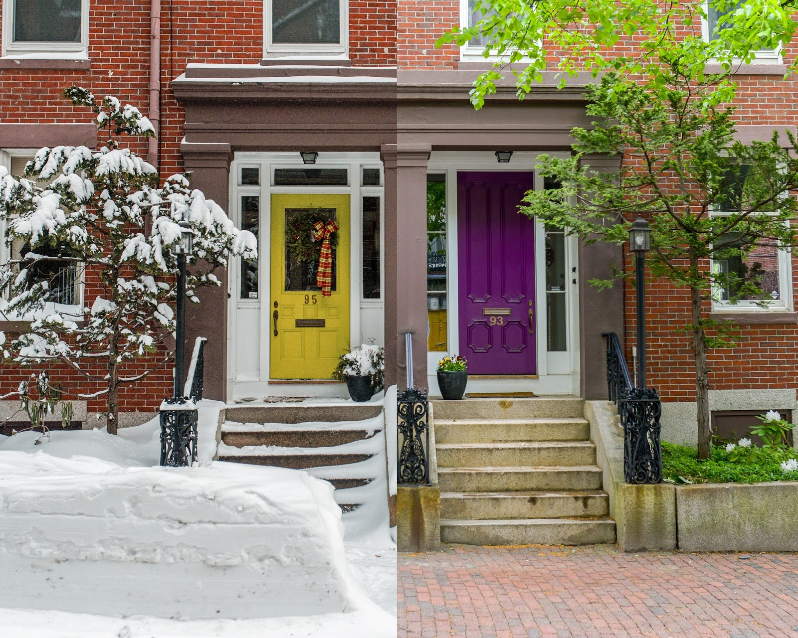 Portland Maine USA May 2017 photo by Corey Templeton. A summer/winter mashup & Corey Templeton Photography: Seasons of Portland: Park Street Doors