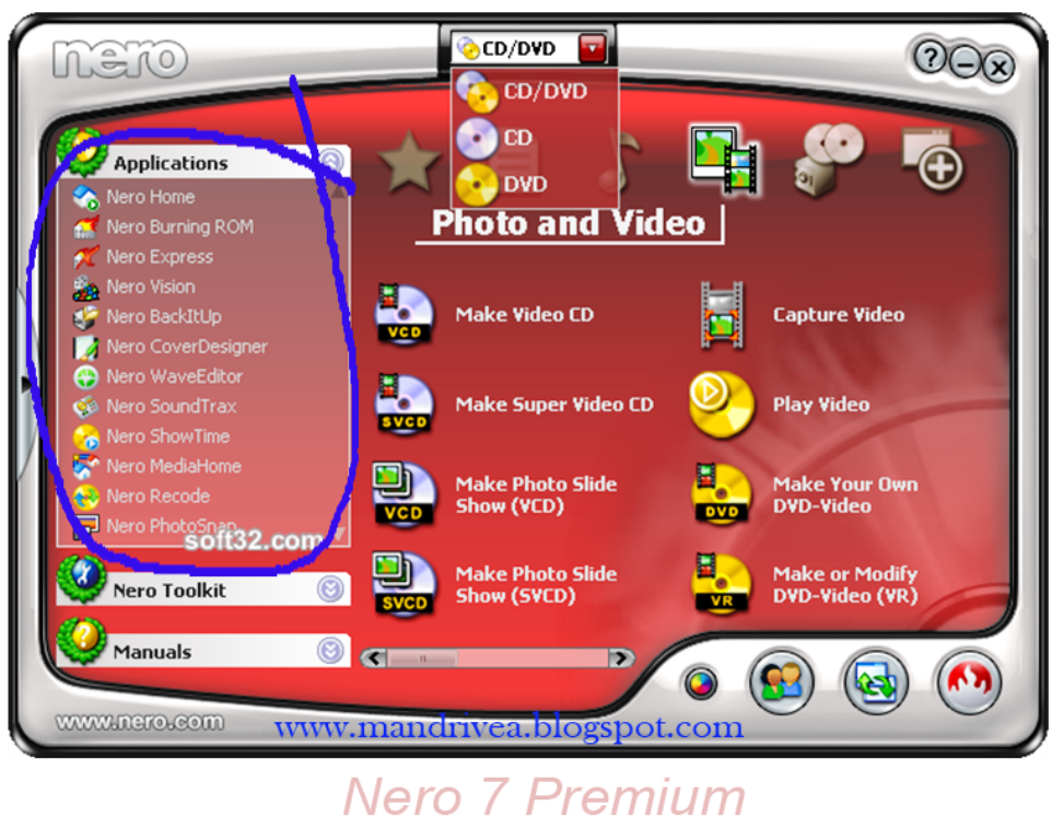 nero burner for windows 7