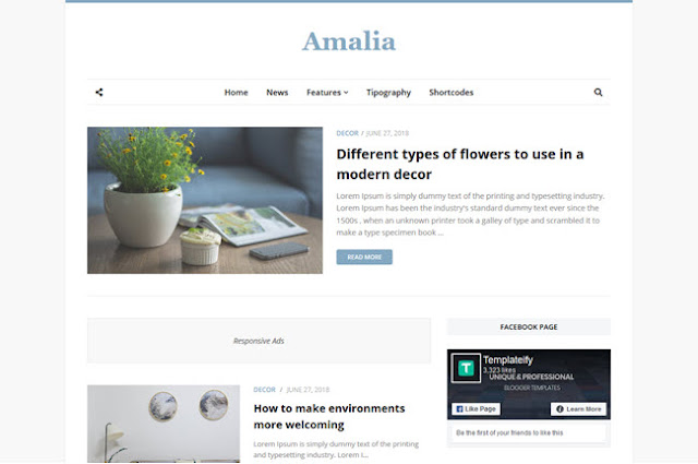 Amalia adalah template blogger profesional berkualitas tinggi