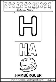 Cartaz das famílias silábicas do H