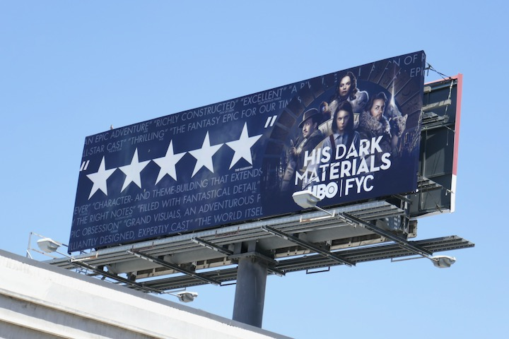His Dark Materials 2020 Emmy FYC billboard