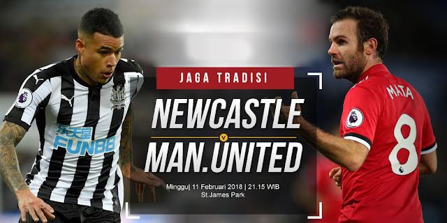 Prediksi Newcastle United vs Manchester United 11 Februari 2018