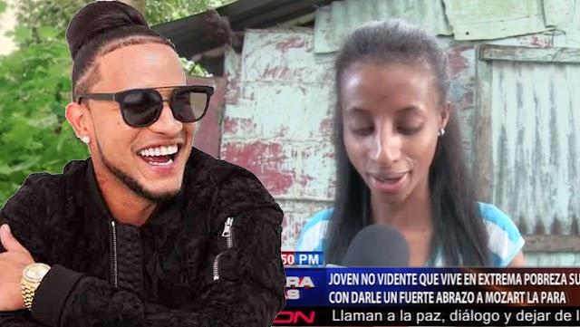 Artista urbano realizará visita a joven no vidente que vive en extrema pobreza en Azua