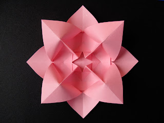 Origami Fiore bombato, variante - Curved flower, variant, by Francesco Guarnieri