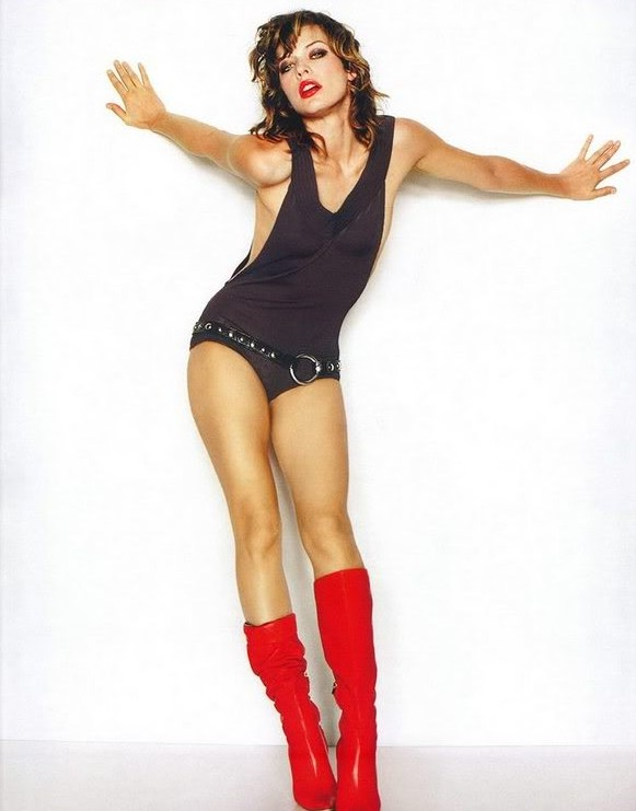 Red boots and bodysuit