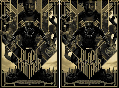 Black Panther Black Friday Tiimed Edition Movie Poster Screen Print by Matt Taylor x Mondo