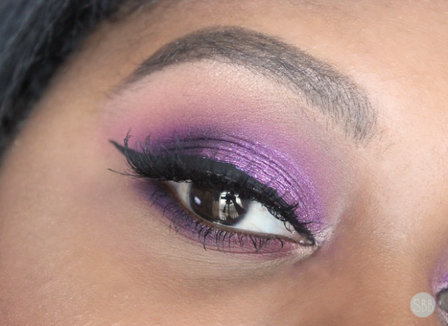 makeup look with Stila glitter