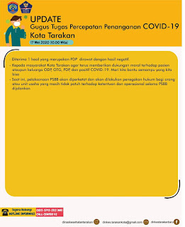 Press Release COVID-19 Tarakan 17 Mei 2020 - Tarakan Info