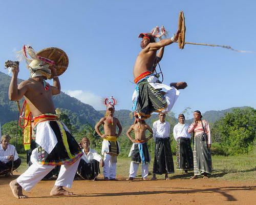 Tinuku.com Travel Caci is one on one fighting dance used whip and shield as harvest thanksgiving in Manggarai, Flores island