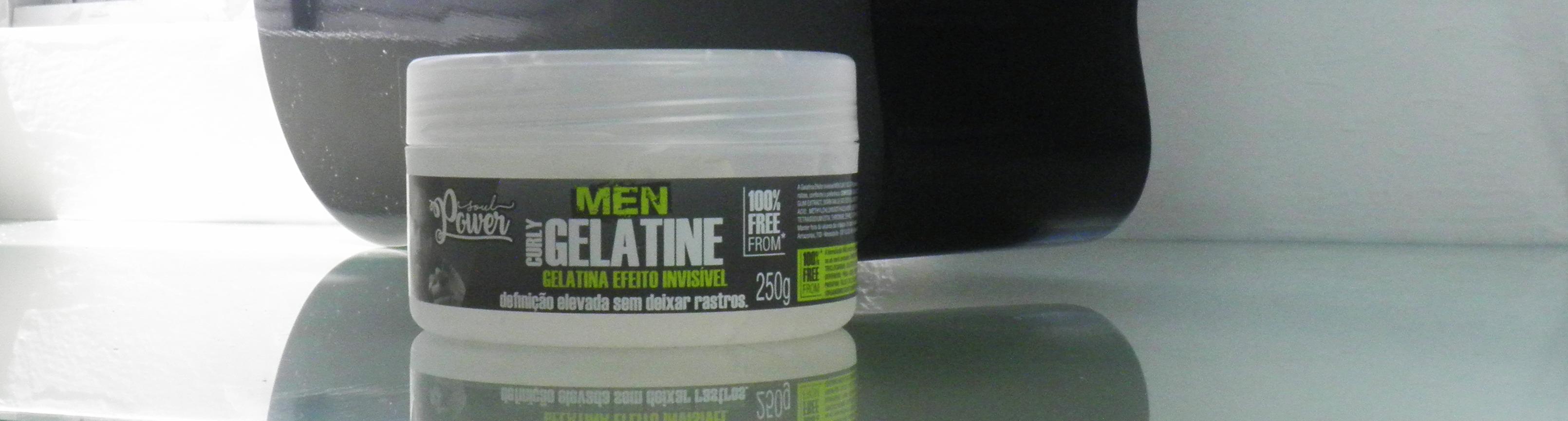 Resenha Gelatina Curly Gelatine - Soul Power Men (Vegano e Liberado para Low Poo e No Poo)