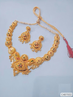 Party Wear Gold Plated Necklace Sets