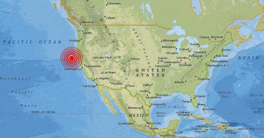 TERREMOTO EN CALIFORNIA: Sismo de magnitud 5.8 en Estados Unidos - EE.UU. (Hoy Jueves 25 Enero 2018) Temblor EPICENTRO Ferndale - Humboldt - Los Ángeles - Petrolia - USGS
