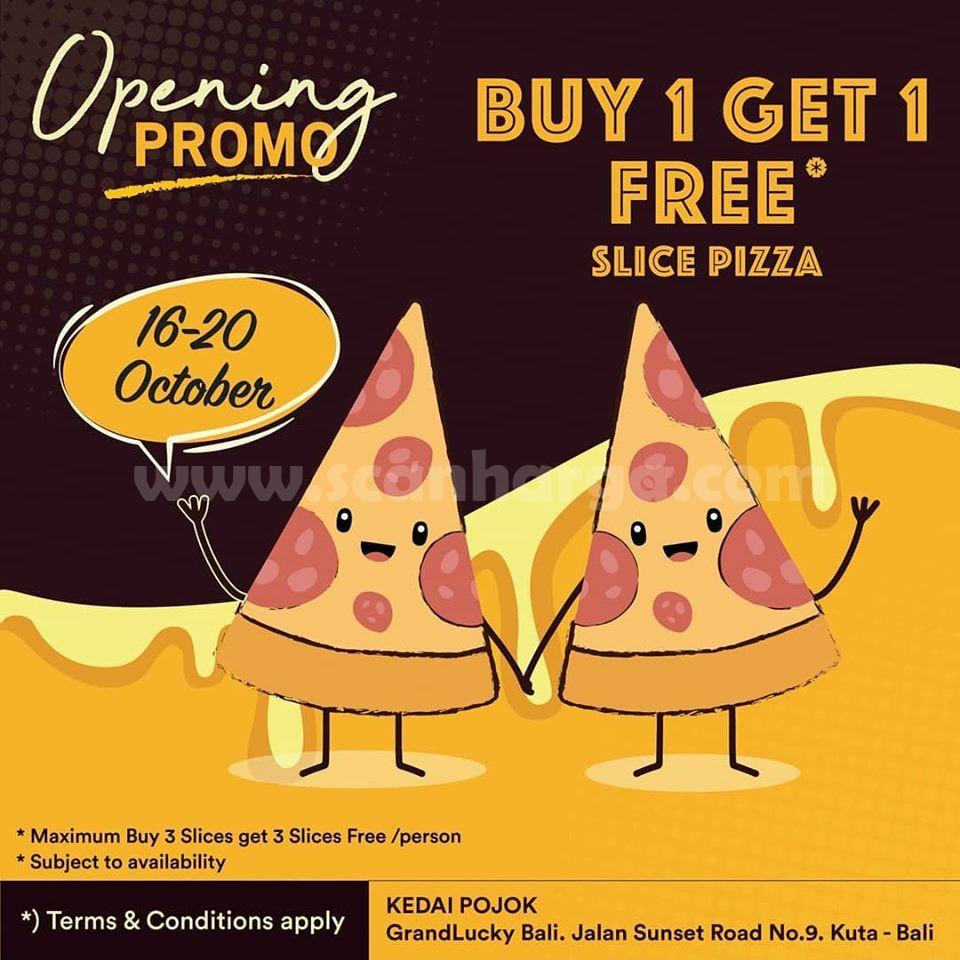 Promo Kedai Pojok Grand Opening Bali 16 - 20 Oktober 2019