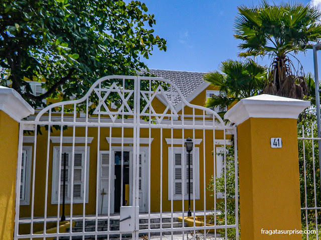 Casarão do Século 19 no Bairro de Scharloo, Willemstad, Curaçao