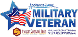 appliance parts, appliance repair, appliance tech jobs, veterans appliance repair, veterans online scholarship