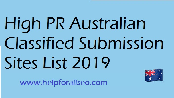 60+ Best Free Australia Classified Sites List 2019-20 -  Helpforallseo