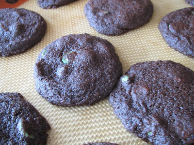 Gluten Free Mint Triple Chocolate Cookies