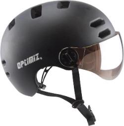 Helm elektrische fiets met vizier Optimiz