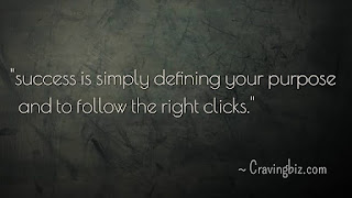 """""""Success is simply defining you purpose and to follow the right clicks"""""""