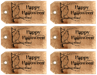Halloween download tags sheet