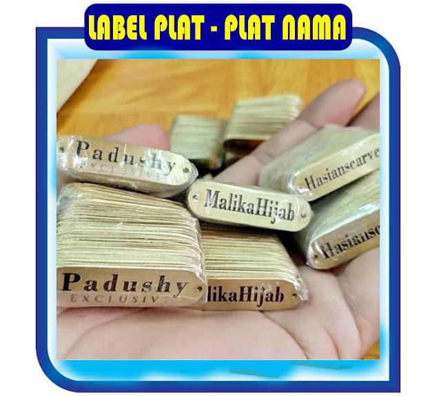Jasa Pembuatan Label Plat, Pembuatan Plat Label, Pusat Pembuatan Plat Nama, Produksi Label Plat Name, Pembuatan Label Hijab,