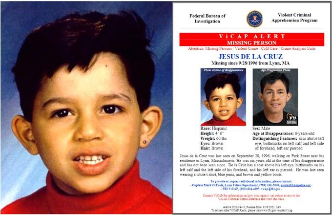 Sigue búsqueda de un niño de origen dominicano desaparecido hace 25 años en Massachusetts