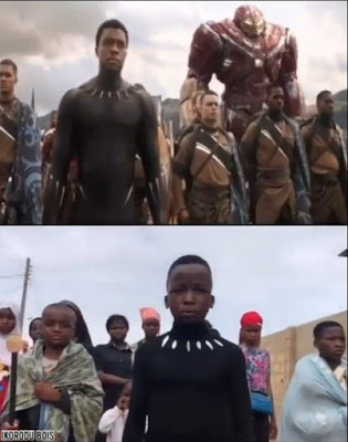 Sad Memory: Ikorodu Bois Made Touching Tribute To Late Chadwick Boseman By Remaking 'Black Panther' Scenes (VIDEO)