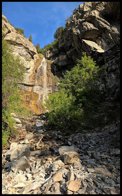 Provo Canyons Unnamed Waterfall off the Bonneville Shoreline