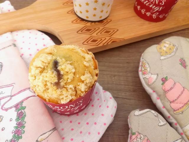 Muffins à la Myrtille et son crumble gourmand