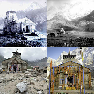 Old images of Kedarnath temple uttarakhand