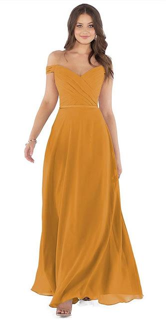 Cute Yellow Chiffon Bridesmaid Dresses