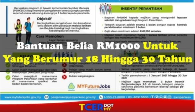 Bantuan RM1,000 Untuk Golongan Belia Umur 18-30 Tahun 2021