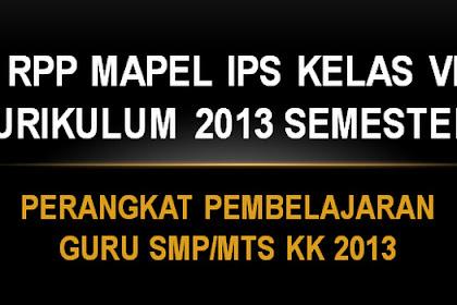 RPP MAPEL IPS KELAS VII KURIKULUM 2013 SEMESTER 1