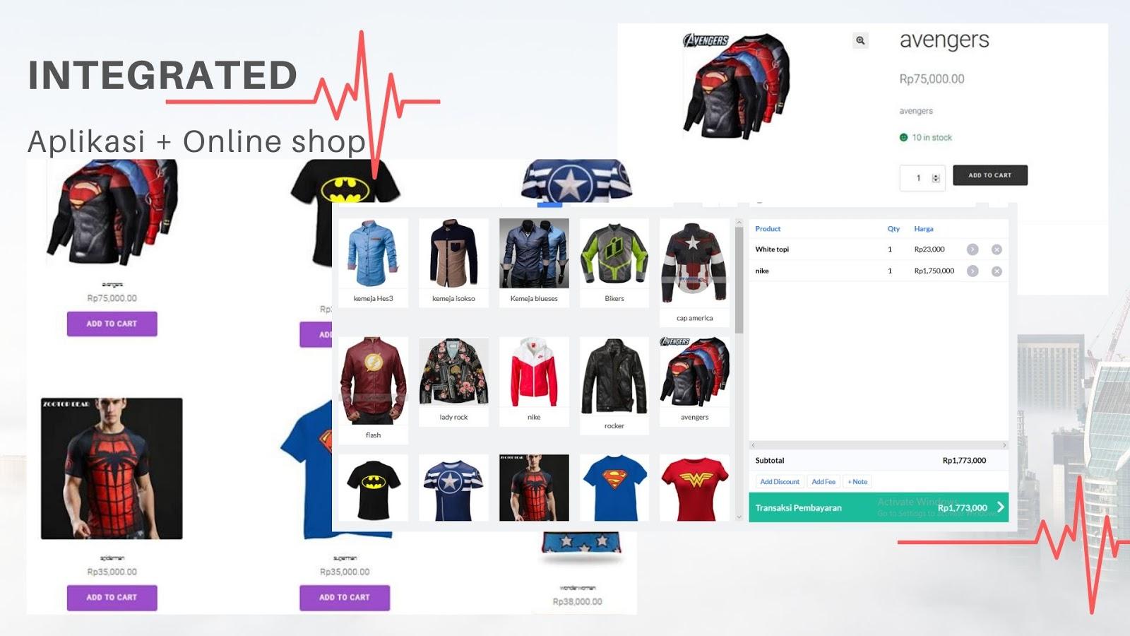aplikasi kasir pos dan online shop website toko online