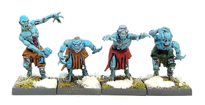 Painted Mantic Zombies