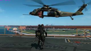 El autentico protagonista del último juego de Kojima, el helicóptero.