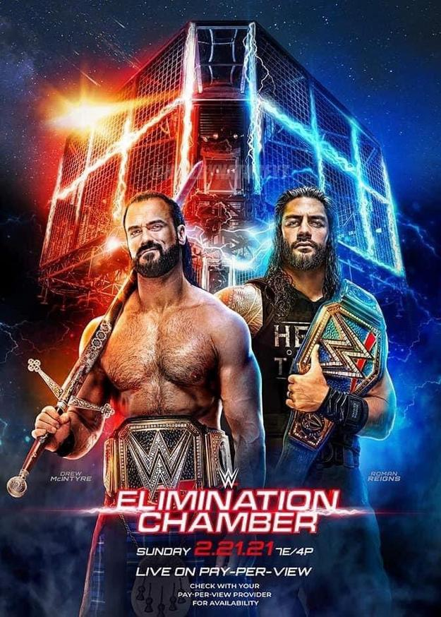 WWE Elimination Chamber (2021) PPV 720p | 480p WEBRip 1.1Gb | 600Mb x264
