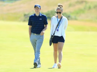 Matthew Fitzpatrick With His Girlfriend Lydia Cassada On The Course