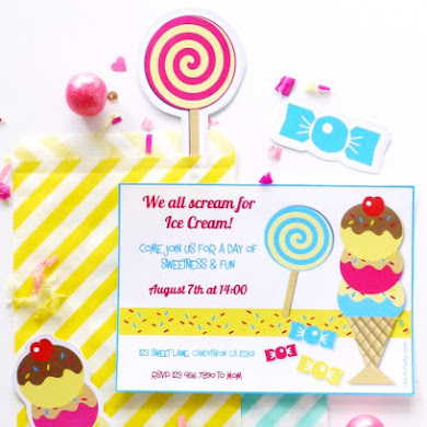 Ice Cream Social Birthday Party Printables